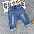 Горячая Продажа Детские мальчики девочки модные джинсы краска отверстие дети pp брюки Distrressed детские полной длины брюки Бесплатная доставка