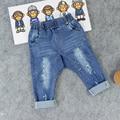 Venta caliente muchachas de los Bebés jeans de moda agujero pintura niños pp pantalones Distrressed los pantalones de Los Niños pantalones largos Envío gratis