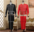 New hot Men's red court dress short paragraph bullfighting bands performing Bar stage costumes dress Retro jackets suit sets