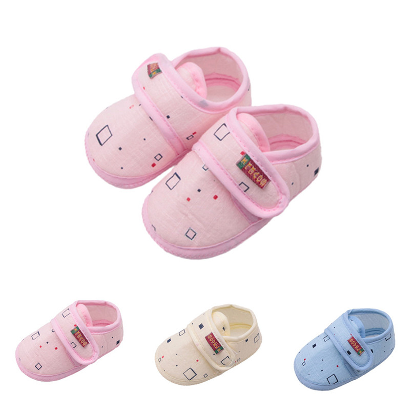 3 Color Baby Girls Shoes Fashion Newborn Infant Baby Girls Print Shoes Soft Sole Anti-slip Sneakers Baby First Walker Shoes JE14