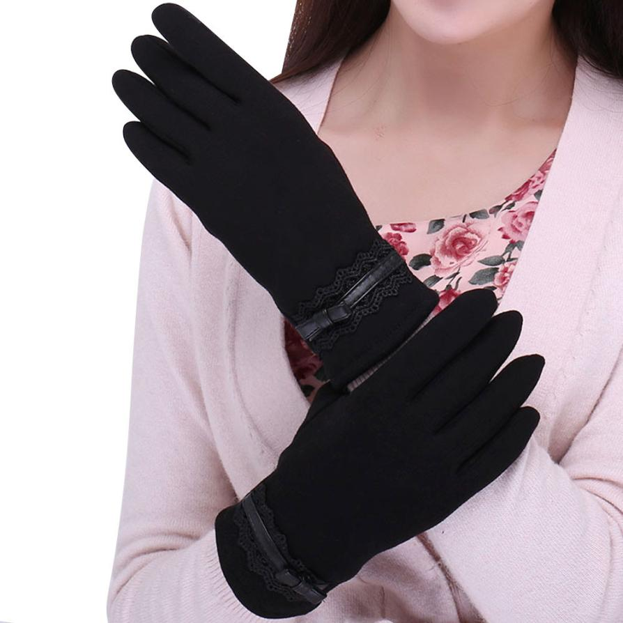 Winter Spring 2016 Gloves Solid Lace Cotton Gloves For s