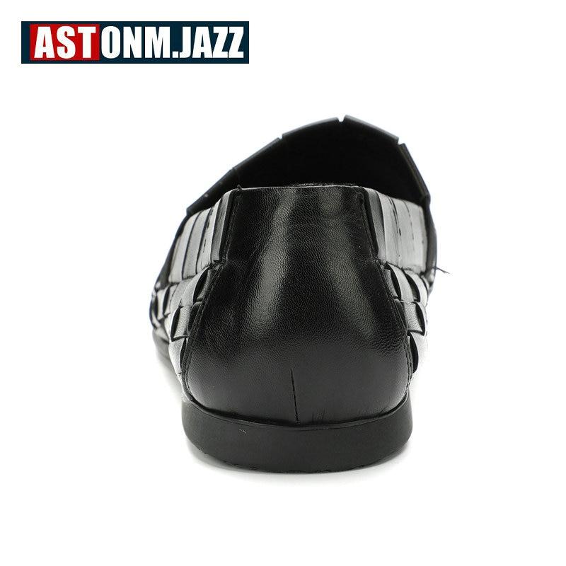 Hommes en cuir chaussures décontractées en cuir véritable chaussures hommes mocassins respirant sans lacet à la main formelle Oxford chaussures pour hommes grande taille 11 46 - 4