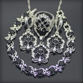Black Created Sapphire White Topaz 925 Sterling Silver Jewelry Sets Earrings/Pendant/Necklace/Rings/Bracelet For Women Free Box