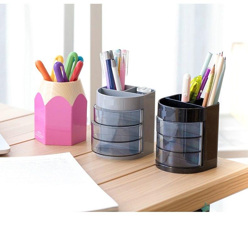 Pen Holders Desk Accessories & Organizer Independent Desk Mesh Pen Pencil Holder Office Supplies Multifunctional Digital Led Pens Storage