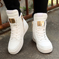 37-45 Plus Size High Top Man Casual Shoes 2016 Autumn Winter New Fashion Metal Decoraton Male Canvas Shoes  ankle boots