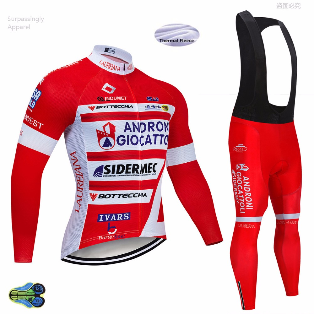 2019 Team Andr Cycling Jersey 12D Gel Pad Bike Shorts Ropa Ciclismo Men Winter Thermal Fleece