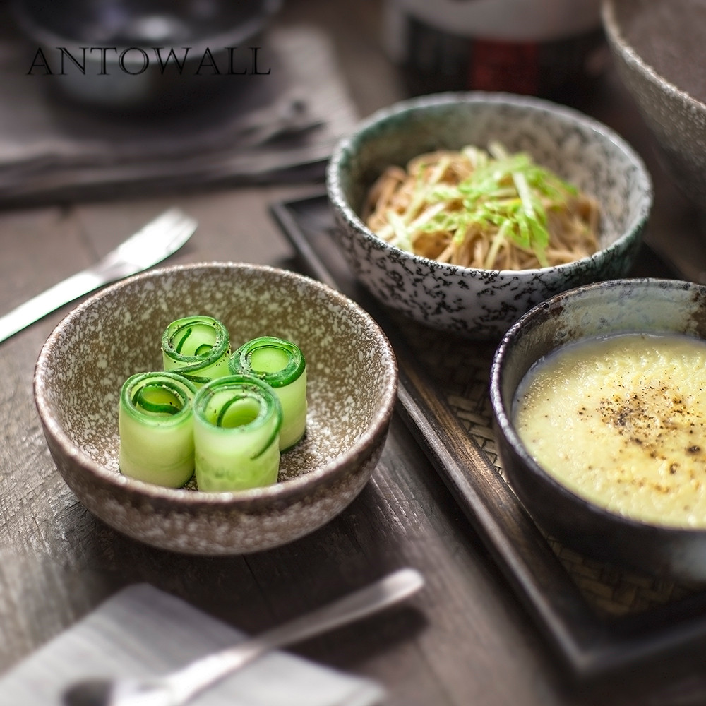 Kitchen,dining & Bar Bowls Antowall Japanese Kiln Ceramic Ceramic Tableware Household Rice Bowl Small Soup Bowl Special Restaurant Snowflake Glaze