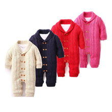 el bebe oso Knitted Romper 0-18 Months Thick Cotton