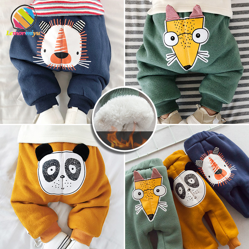 Lemonmiyu Warm-Pants Leggings Harem Baby-Girl Winter Toddler Newborn Casual Cartoon