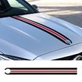 Auto Styling Haube Stamm Streifen Motor Abdeckung Aufkleber Aufkleber für Mercedes Benz A C CLA CLA45 GLA45 GLA W176 C117 w204 W205 AMG-in Autoaufkleber aus Kraftfahrzeuge und Motorräder bei