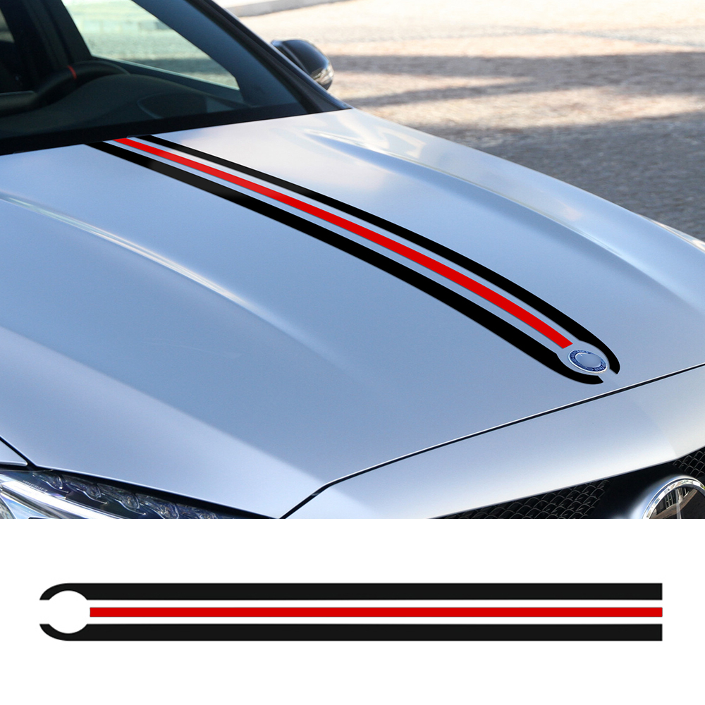 Car Styling Hood Trunk Stripes Engine Cover Decal Sticker for Mercedes Benz A C CLA CLA45 GLA45 GLA W176 C117 W204 W205 AMG for mercedes benz cla class w117 cla180 cla200 cla250 cla45 amg carbon fiber front lip splitter flap canard fits sporty car amg