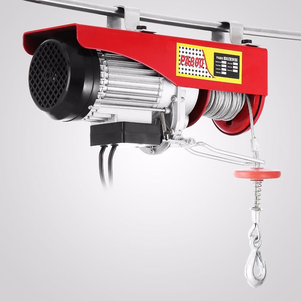 Electric Hoist Lift 1500LBS 680KG Overhead Electric Hoist 110V Electric Wire Hoist Remote Control Garage