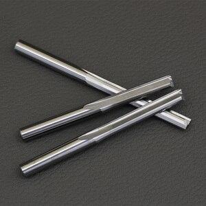 Image 2 - 10 adet 3.175mm 4mm Iki Flüt Düz freze uçları ahşap CNC Düz Gravür Kesiciler Karbür Frezeler Kesme freze araçları