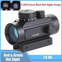1x40 IR diterangi red dot riflescope airsoft penenun lingkup penglihatan holografik bertujuan perangkat 20mm rel tunggangan