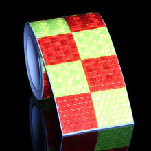 5CMx3M Motorcycle Tank Stickers Colors Auto Decal Grid Red White Blue Yellow Black Reflective Film