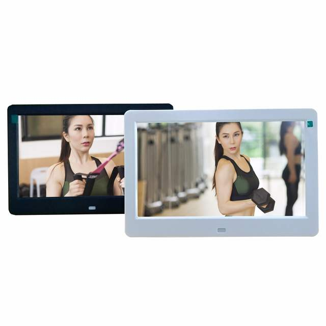 US $82 79 |10 inch 10 1 inches WIFI android 4 4 download install app apk  software support Mouse digital photo frame electronic album-in Digital  Photo