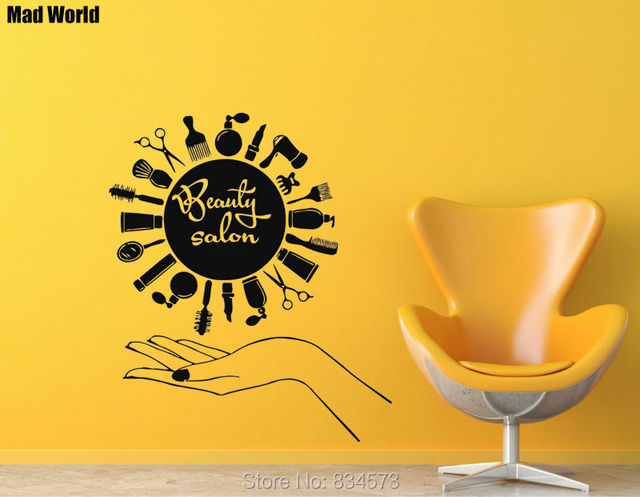 Mad World Hairdressing Combs Beauty Salon Wall Art Stickers Wall ...