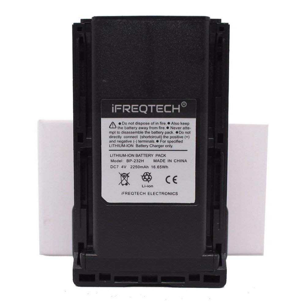 BP-232 BP-232H 2250mAh Li-ion Battery For ICOM IC-A14 F14 IC-F16 F24 IC-F33GS IC-F43 F34G F3021 F3061 F4029 F4061 F4062 F4162