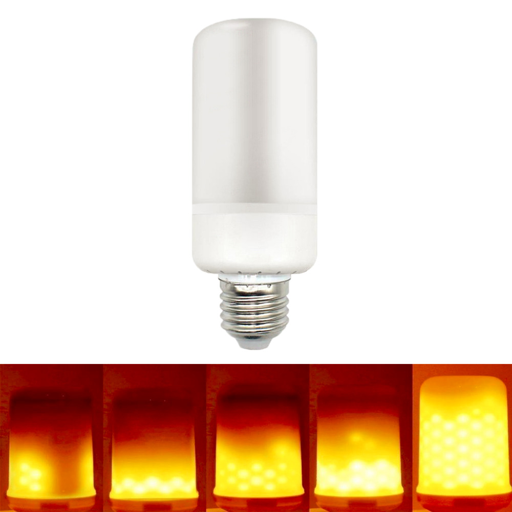E27 E14 LED Flame Effect Bulb Flickering Flameless Light Simulation Fire Candle Emulation Flame Lighting 2835SMD Drop Shipping