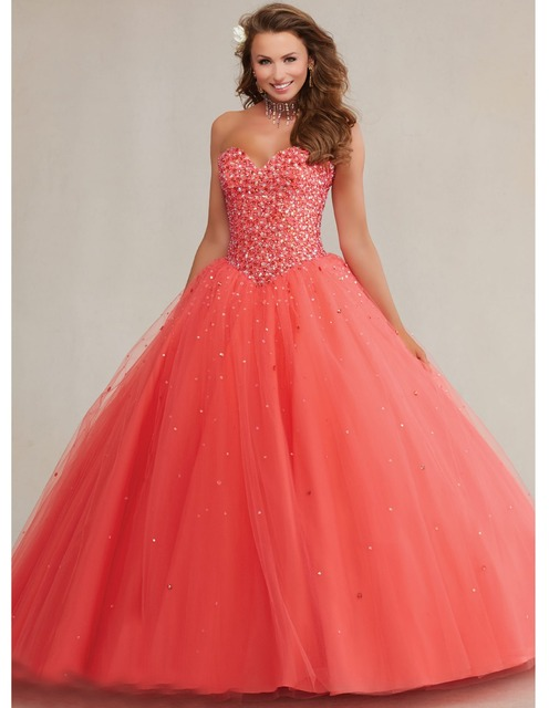 bcadb8d6e3f vestido de debutantes e 15 anos most popular coral quinceanera dresses  debut ball gown organza lace up sweet 16 dresses YK 062