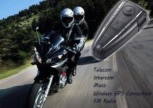 D2 dedicado motocicleta intercomunicador del casco de Bluetooth headset 3.0 responde automáticamente FM 500 metros a prueba de agua puede escuchar canciones
