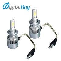 Digitalboy H7 LEDไฟหน้า72วัตต์7600LMออโต้คาร์LEDไฟหน้าตัดหมอกไฟH7หลอดไฟทั้งหมดในหนึ่งไฟหน้า6000พันเปลี่ยนโคม...