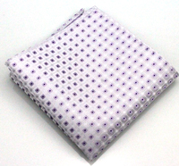 Fashion Men Pocket Square Polyester Silk Purple White Plaid Handkerchief Gift For Wedding Party Suit Business