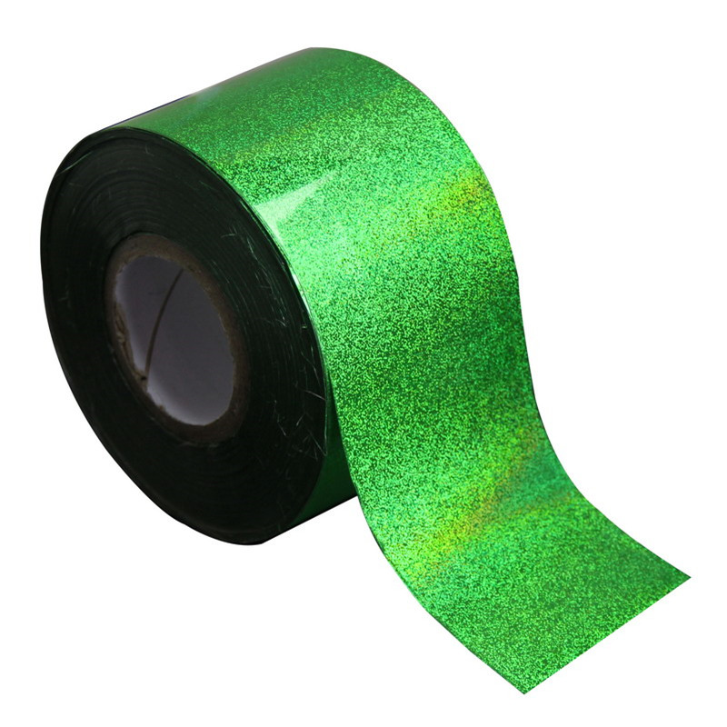New Arrival 120m*4cm Transfer Nail Foils Nail Art Stickers Green Laser Nail Foil Rolls UV Gel Polish DIY Nail  Decorations WY233 жидкость domix green professional nail gel polish remuver