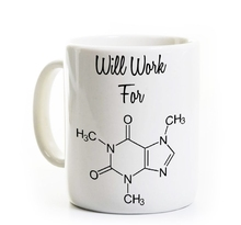 Science gifts Teacher mugs Coffee Mugs Caffeine Funny Chemistry Mug Gift Science Mug,Teacher Gift Geek Nerd Caffeine Formula