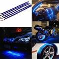 Envío Libre Impermeable 15 LED 30 cm Car Styling super azul blanco impermeable flexible Del Coche Daytime Running Light Soft tira