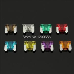 100 шт. 3/5/7.5/10/15/20/25/30a AMP низкопрофильный микро-лезвие мини-предохранитель набор