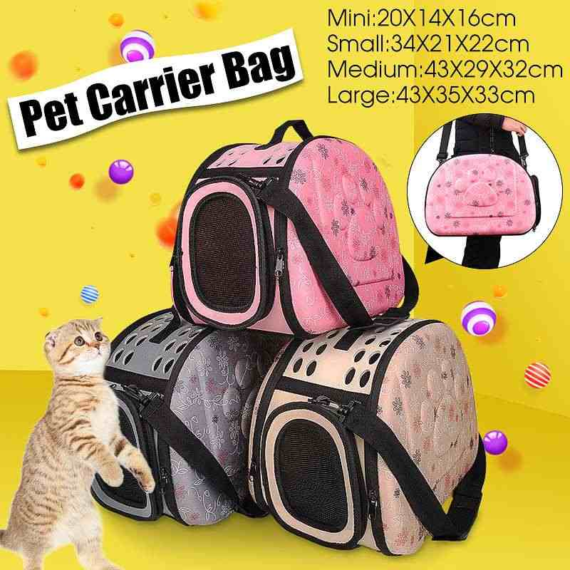Foldable Premium EVA Pet Carrier Puppy Dog Cat Outdoor Travel Shoulder Bag for Small Dog Pets Soft Dog Kennel Pet Carrier Bag