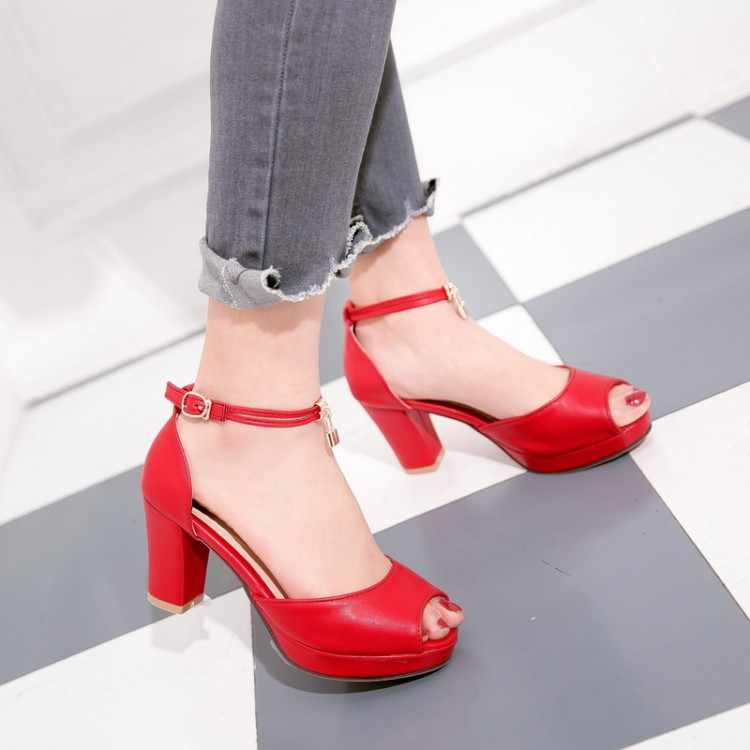 Big Size 9 10 11 12 di estate delle signore sandali della piattaforma delle donne scarpe da donna della bocca dei Pesci tavolo impermeabile del sacchetto e del piede anello fibbia della cintura