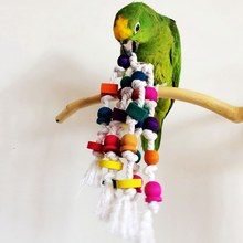 Top Sale Bird Parrot Chew Toy Rope Harness Cage Bite Toys Pet Bird Macaw Conure Parakeet Swing Scratcher(China)