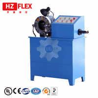 Máquina de prensado y skiving HZ-50D máquina de prensado de manguera de goma hidráulica de 2 pulgadas