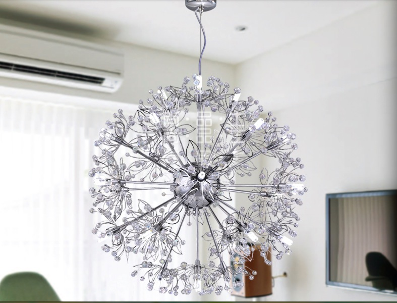 Modern D500mm Modern Nordic Style Creative Brief Restaurant Lights Round Personalized Crystal Pendant Lamp Free Shipping free shipping 3l led l80cm modern nordic style creative brief restaurant lights bird personalized rustic glass pendant lamp