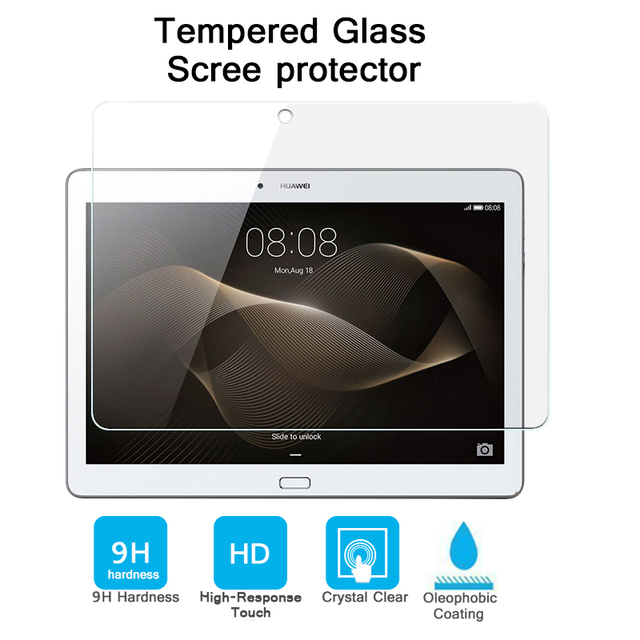 """0.3mm 9H 2.5D Explosion-proof Tempered Glass film for Huawei MediaPad M2 M2-A01W 10"""" tablet Anti-shatter screen protector films"""