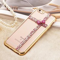 For 3D BLING Samsung S7 Edge Case Ultra Thin Clean Soft TPU Crystal Phone Cases Rose