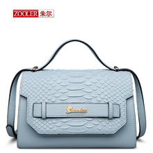 ZOOLER New 2016 Real leather bag shoulder messenger bags luxury brand handbags women bags designer bolsa feminina #CJ-6919