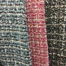 Free ship needle-punched weaved tweed fabric 3 colors sold by meter