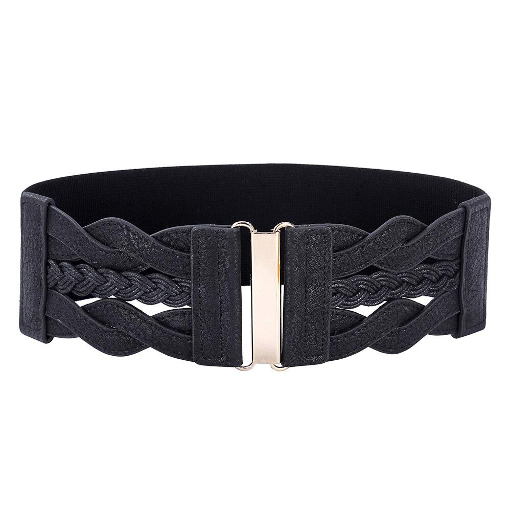 Ladies Thin Silver Braided Fashion Waist Belt Pin Buckle Girls Elegant Waistband