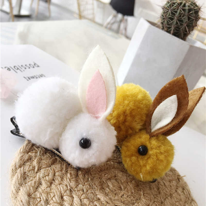 Cute Animals Style Hairclips Felt Three-Dimensional Plush Rabbit Ears Headband Hair Accessories Hairstyle Design Styling Tool