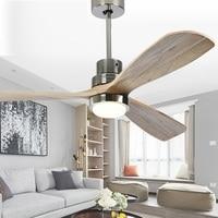 LukLoy Retro Ceiling Fan Light Nordic Minimalist Loft Solid Wood Pendant Light Home Bedroom Living Room Dining Room Fan Lamp