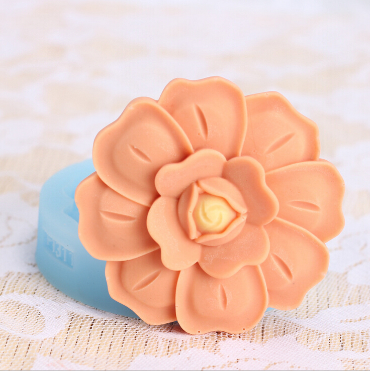 New Arrival DIY Pattern Flower Silicone Fondant Cake Mold Flower Series Christmas Silicone Mold For Cake Decorating Tools FM397