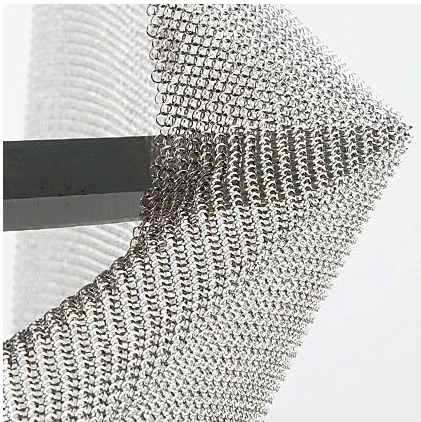 Chain Mail Stainless Steel Mesh For Decorate Stainless Steel Table Linen 30*30cm
