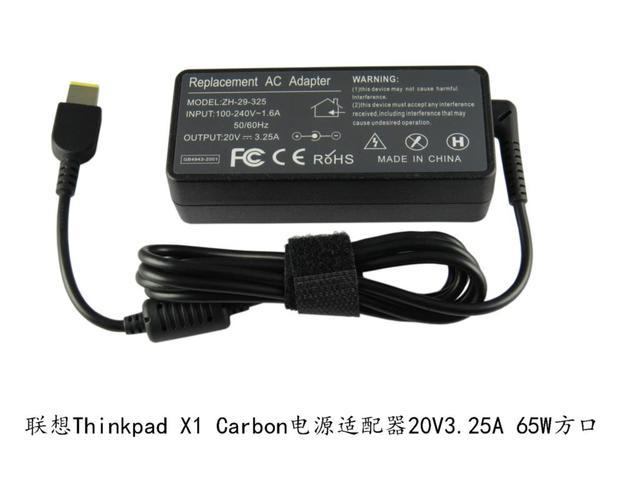 20 В 3.25A 65 Вт AC Ноутбук Адаптер Питания Зарядное Устройство для Lenovo G400 G500 G505 G405 ThinkPad X1 Carbon Yoga 13 Высокое качество