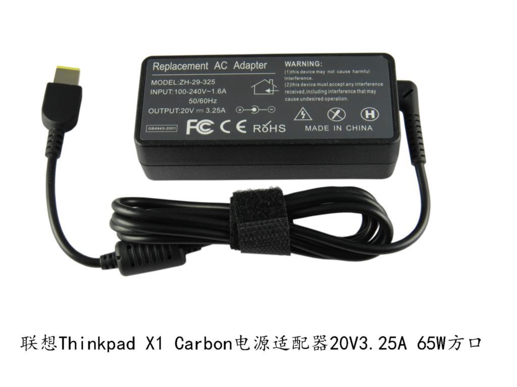 20 V 3.25A 65 W AC Portátil Adaptador de Cargador Para Lenovo G400 G500 G505 G405 ThinkPad X1 Carbon Yoga 13 de Alta calidad