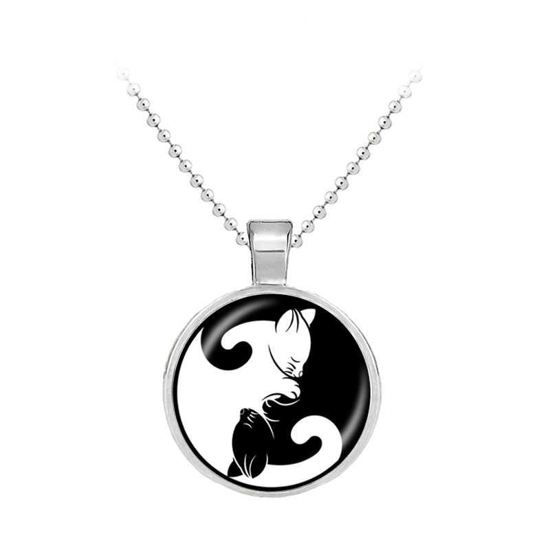 1 пара, ожерелье, цепочка, подвеска, котенок, кошка, котенок, брелки, объятия, ювелирные изделия для женщин, мужчин, влюбленных пар, Мстители Marvel