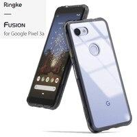 Ringke Fusion для Google Pixel 3a прозрачная задняя крышка из поликарбоната и мягкая гибридная рамка для Pixel 3a XL Крышка Mil защита от падения