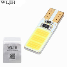 WLJH 1x Canbus COB T10 Led No Error W5W Led Auto Parking Light Interior License Plate Sidemarker Bulb White Blue Led Car Light